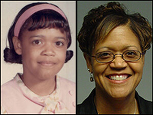 """Matilda """"Tillie"""" Beauford, as a student of Huston Diehl's in 1970, and today."""