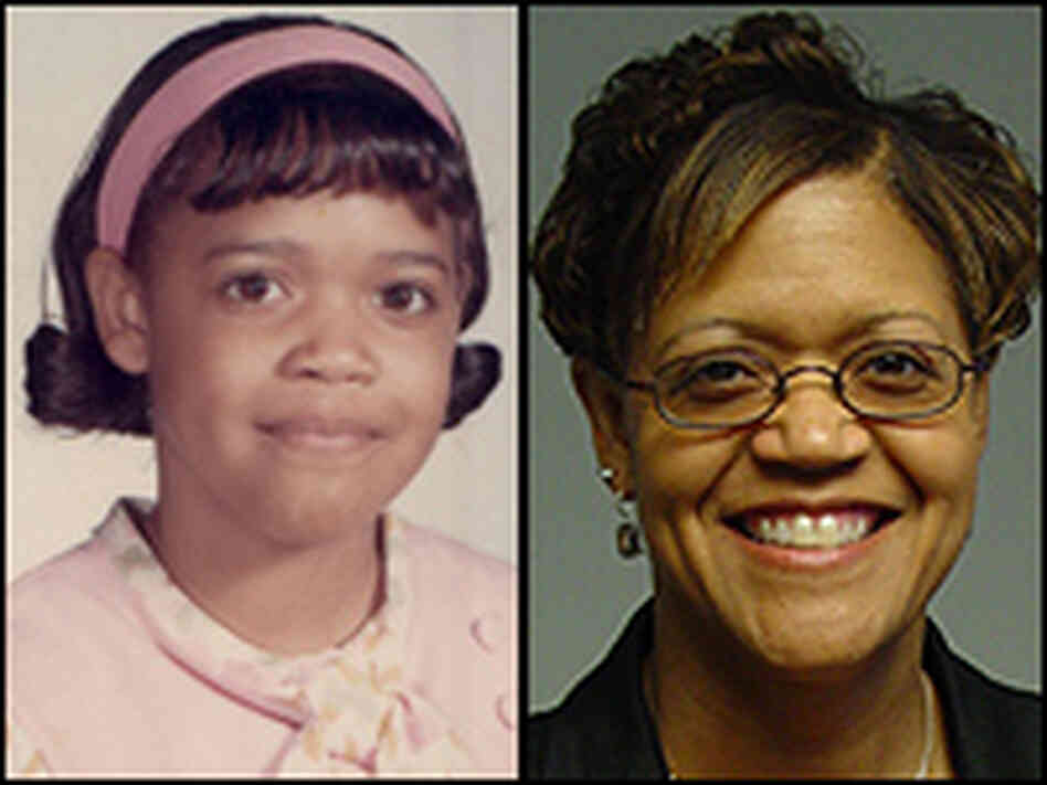 "Matilda ""Tillie"" Beauford, as a student of Huston Diehl's in 1970, and today."