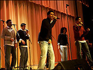 Penn Masala rehearses for the University of Pennsylvania's annual Spring Concert in April.