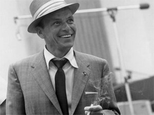 Frank Sinatra, cool to the brim of his hat.