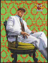Kehinde Wiley's portrait of LL Cool J was painted with oil on canvas in 2005.