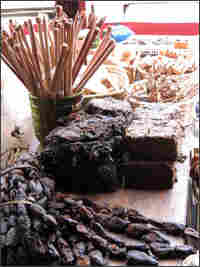 Seaweed and kelp abound at the local market.