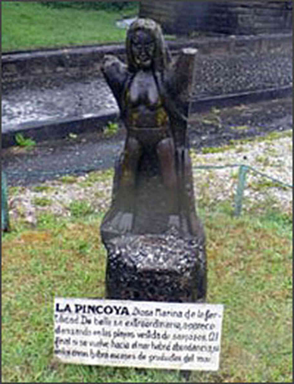 The sea goddess La Pincoya.