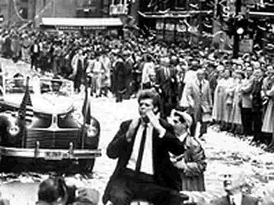 Van Cliburn at his ticker tape parade, April, 1958