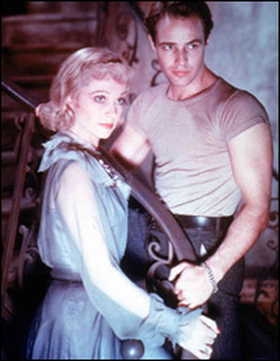 Vivien Leigh and Marlon Brando in the film of 'A Streetcar Named Desire.