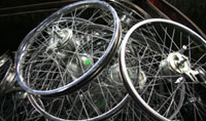 Heavy-duty wheels for bicycles, tricycles and carts made by Worksman