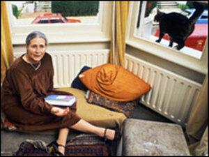 Doris Lessing at home in 1984