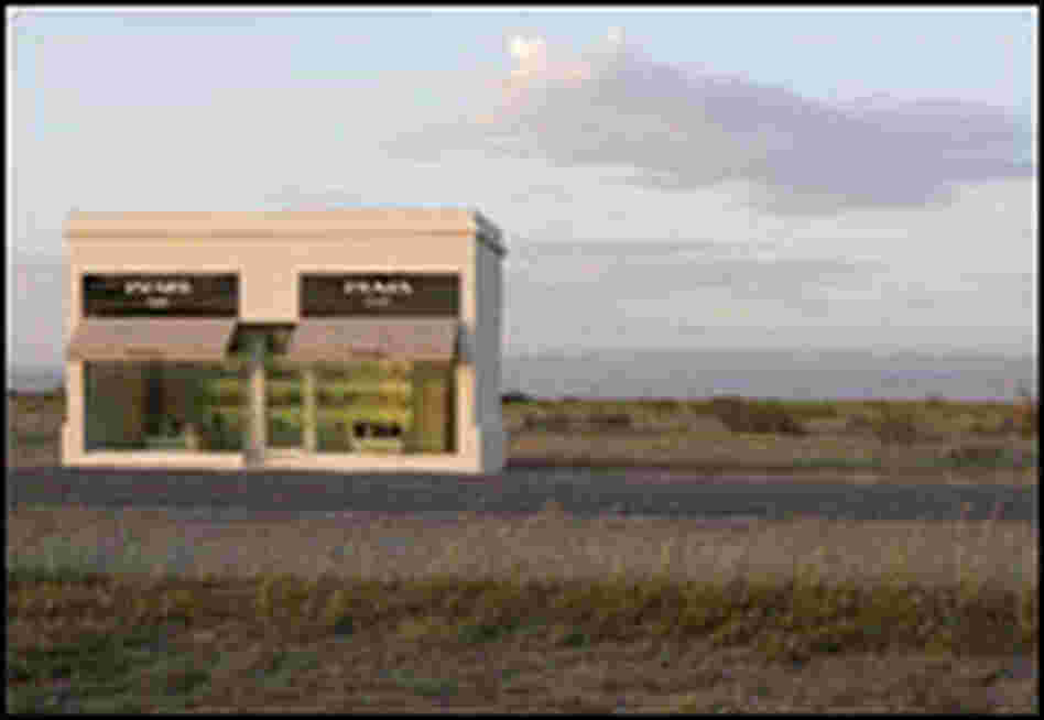 "'Prada"" installation in the Texas desert."