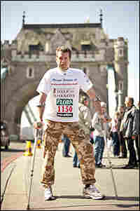 Maj. Phil Packer during the London Marathon. Credit: Ben Stansall/AFP/Getty Images