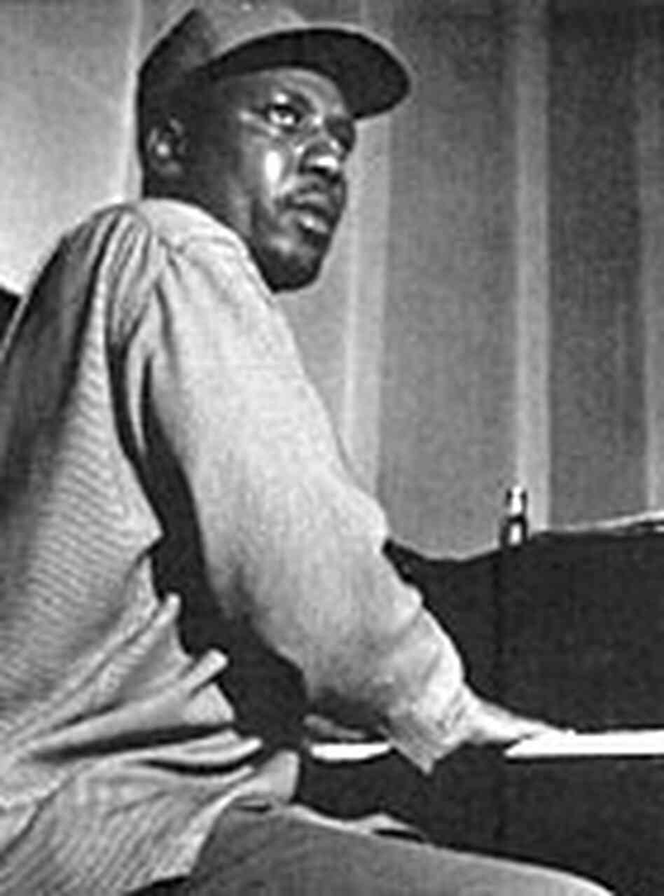Thelonious Monk, at the piano