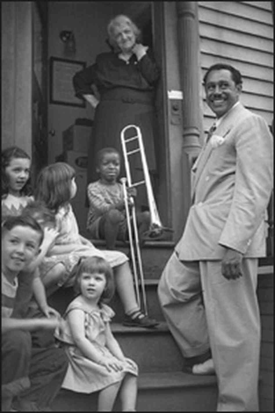Cab Calloway with kids