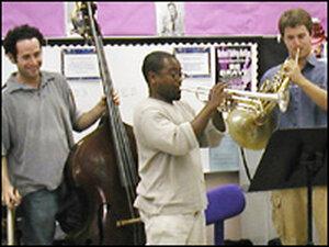 New World Symphony members visit North Beach Elementary School, Miami Beach.