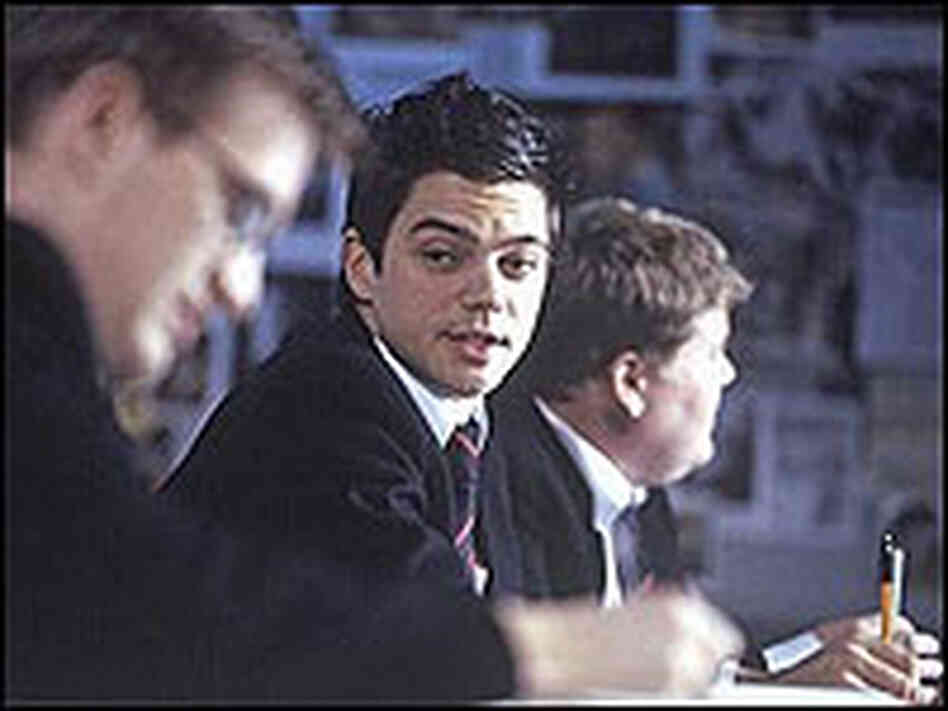 Jamie Parker, Dominic Cooper and James Corden in 'History Boys'