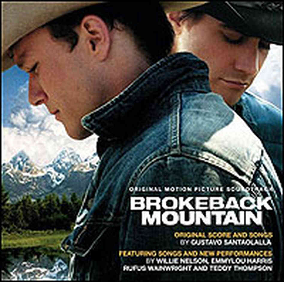 Cover of 'Brokeback Mountain' soundtrack shows the two cowboys.
