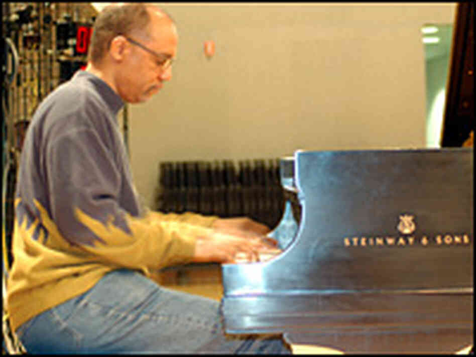 Billy Childs at the piano in NPR's Studio 4A.