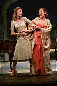 "Sara Gettelfinger as Little Edie and Christine Ebersole as Big Edie, singing ""Two Peas in a Pod."""