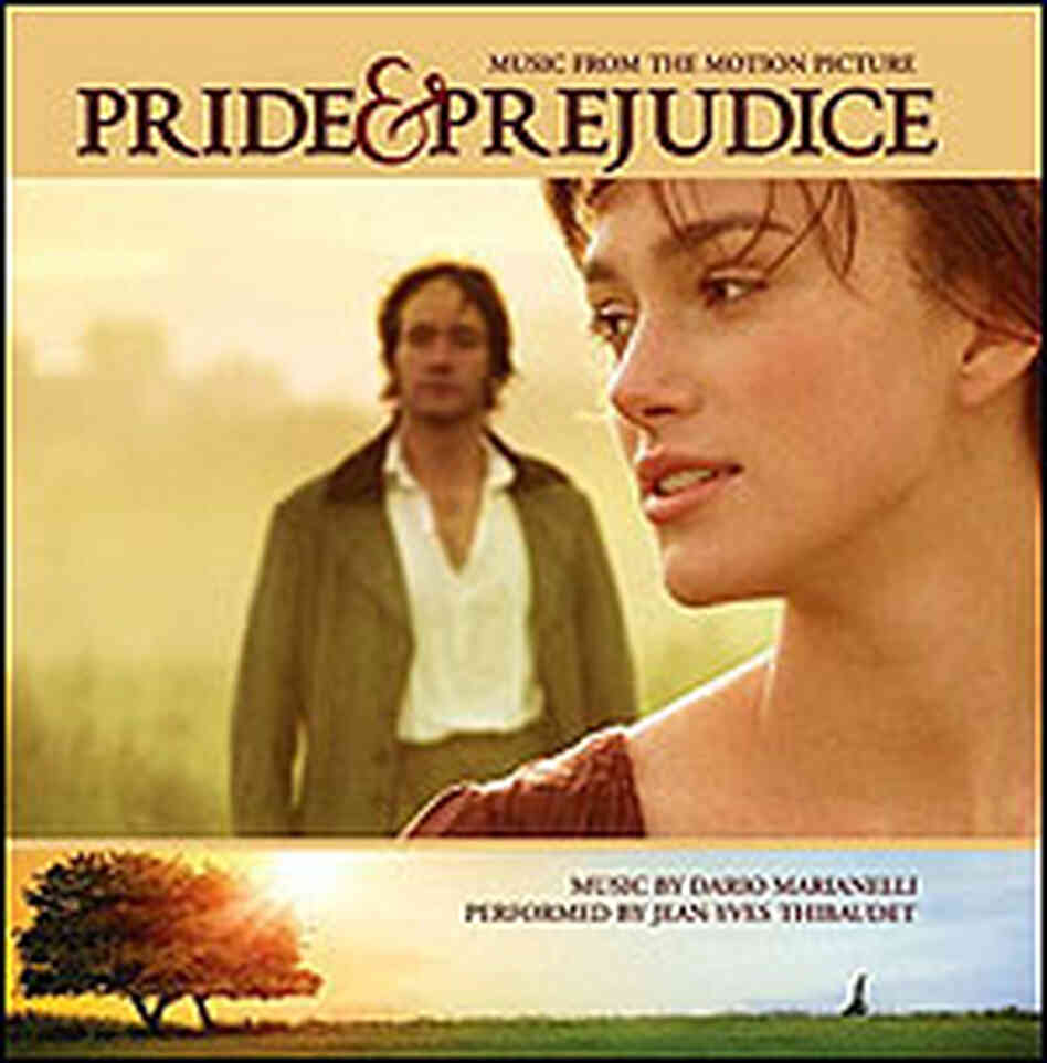 Keira Knightley in a detail from the cover of the soundtrack for 'Pride and Prejudice'