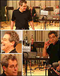 A montage of Ed Palermo and his Big Band in Studio 4A.