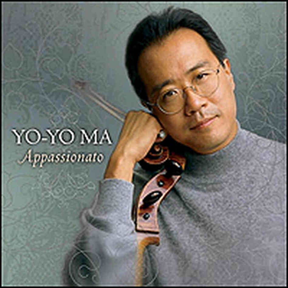 Yo-Yo Ma, cello in hand, on 'Appassionato' cover