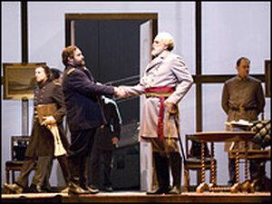 Ulysses S. Grant (Andrew Shore) and Robert E. Lee (Dwayne Croft)