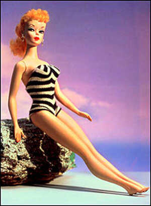 Original 1959 Barbie with swimsuit