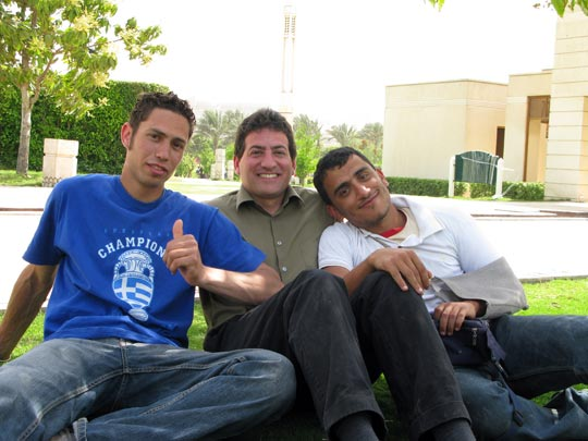 From left: Hanna Fathy, Solar Cities founder Thomas Taha Rassam Culhane and Mahmoud Dardir.