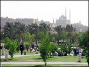 Cairo's 74-acre Al-Azhar Park is the former site of one of the city's largest dumps.