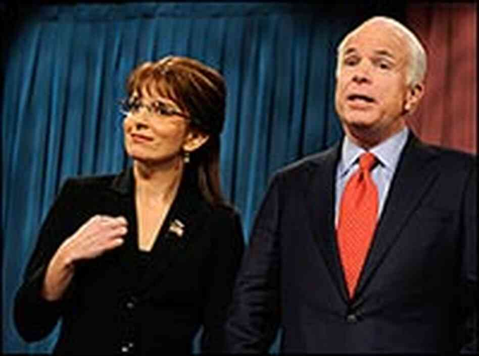 Sen. John McCain and Tina Fey on 'SNL.' Credit: Dana Edelson/NBCU Photo Bank