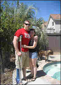 Marine Sgt. Chris Gibson and his wife Danyell.
