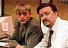 Actors Ricky Gervais and Mackenzie Crook