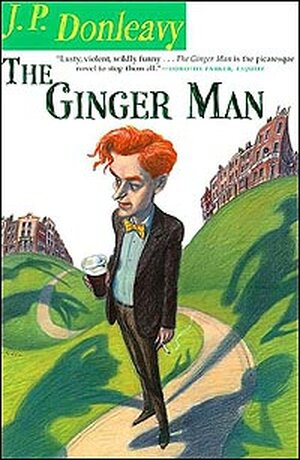Cover of J.P. Donleavy's 'Ginger Man' shows cartoon of central character.