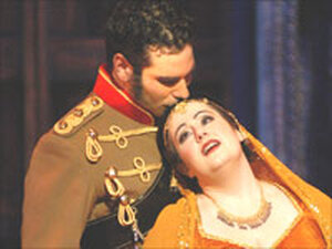 Tenor Frederic Antoun and Soprano Aline Kutan.
