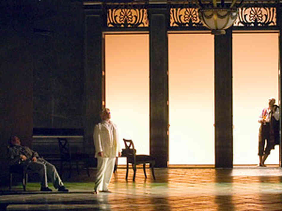 "William Burden, John Gaston and David Pittsinger in ""Death in Venice."""