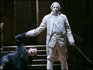 Mariusz Kwiecen as Giovanni and Raymond Aceto as the Commendatore
