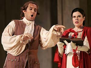 Oren Gradus and Ana Maria Martinez as Leporello and Elvira