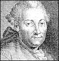 Detail of an etching of Florian Leopold Gassmann