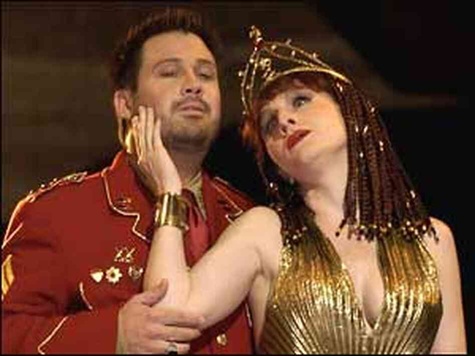 David Daniels with Laura Claycomb as Caesar and Cleopatra