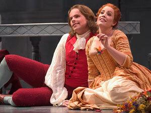 """Colin Ainsworth and Kristine Winkler in Massenet's """"Le Portrait de Manon."""""""