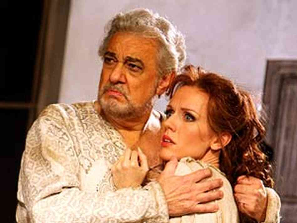 Placido Domingo and Sarah Coburn