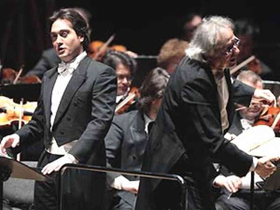 Tenor Giuseppe Filianoti and conductor Alain Guingal