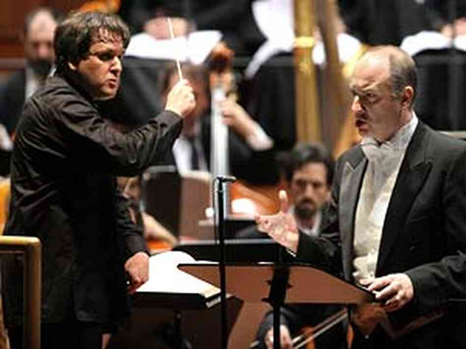Antonio Pappano and Michele Pertusi