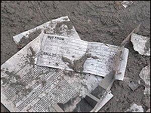 Paper debris after Sept. 11