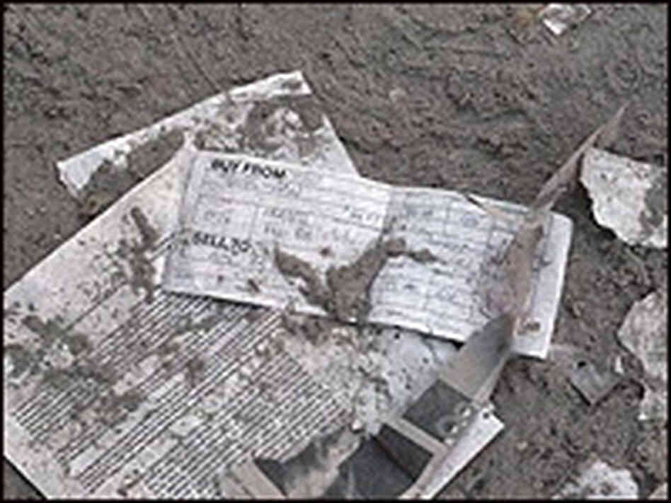 Paper debris after Sept. 11