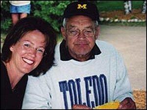 Christine Brennan and her father, Jim Brennan, Sr.