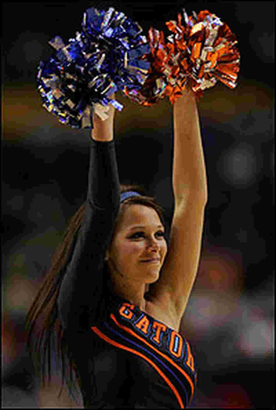 A Florida Gator cheerleader.