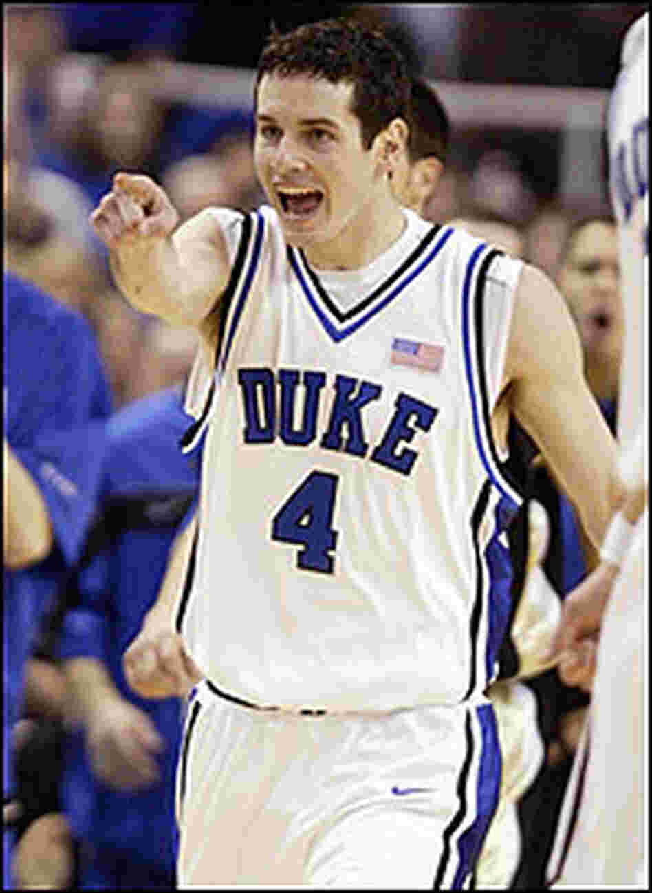 JJ Redick of Duke smiles after a win.