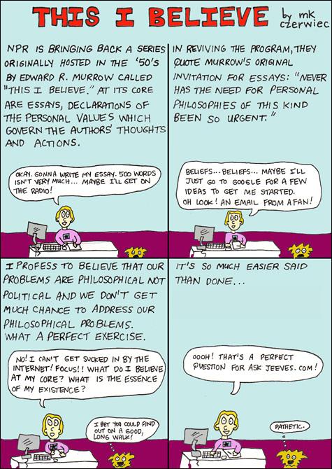 MK Czerwiec's 'This I Believe' Cartoon