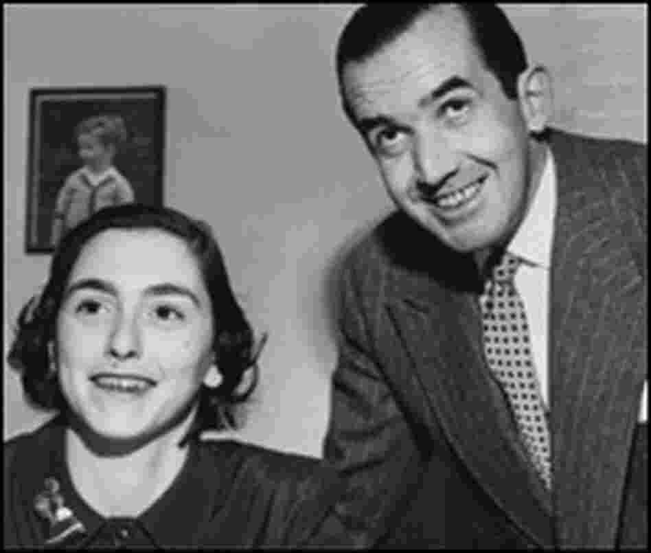 16-year-old Elizabeth Deutsch with Edward R. Murrow in 1954.