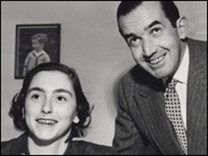 16-year-old Elizabeth Deutsch with Edward R. Murrow in 1954.