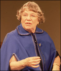 Margaret Mead pictured in 1977.